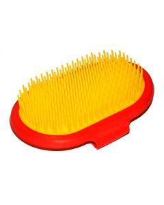 Manusa perie ovala din material plastic pentru caini si pisici, 4Dog
