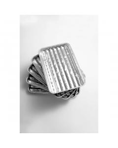 Set  x5 tavi pentru gratar din aluminiu, Grill Chef