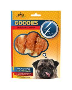 Recompense pentru caini Calcium Bone & Chicken Goodies 100 gr, 4Dog