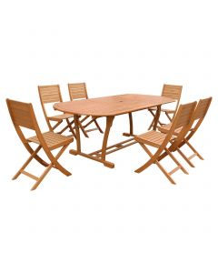 Set masa rotunda + 6 scaune