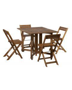 Set mobilier balcon 5 piese, acacia
