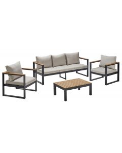 Set mobilier terasa, 4 piese, Carrefour