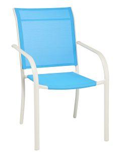 Scaun textilen 87 cm, albastru, Carrefour