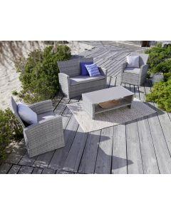 Set mobilier gradina 4 piese, ratan, Carrefour