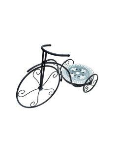 Suport flori bicicleta Mozaic mica, gri