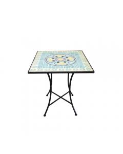 Masa patrata Mozaic 70x70 cm, bleu