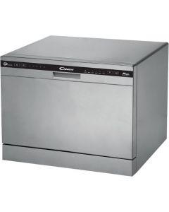 Masina de spalat vase CDCP 6/E-S Candy, 6 seturi, 6 programe, Clasa A+, Argintiu