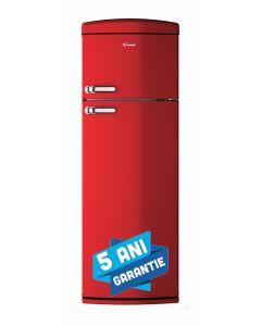 Frigider CVRDS6174RH Candy, design retro, 304 litri, autonomie 19 ore, rosu