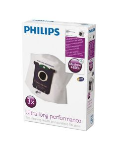 Saci pentru aspirator FC8027/01 Philips, 3 bucati, Ultra Long Performance