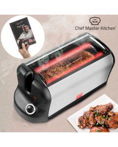 Cuptor portabil rotativ  V0100400 Chef Master Kitchen, 600 W putere, Usa din sticla, Temperatura maxima 200 grade Celsius