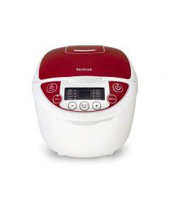 Multicooker RK705 Tefal, 600 W, 5 L, 12 Programe, 6 Accesorii, Start intarziat, Mentinere cald, Oprire automata Timer, Alb/Rosu