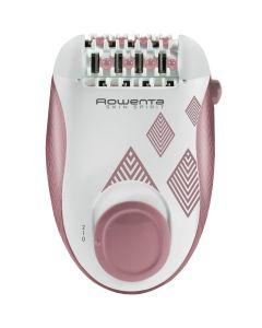 Epilator EP2900F0 Rowenta, 24 pensete, 2 reglaje de viteza, 2 accesorii, zone compatibile picioare si corp, Roz