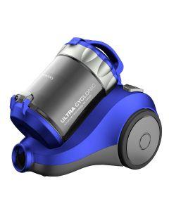Aspirator fara sac RCC-120L Daewoo, 1400 W, 2 l, Tub telescopic, Filtru HEPA, Albastru