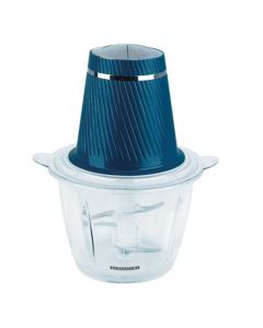 Tocator Charm HMC-300BL Heinner, 300 W, 2 cutite inox, bol de sticla, 2 viteze, Albastru