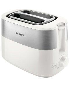 Prajitor de paine HD2515/00 Philips, 830 W, 2 Felii de paine, Functie dezghetare, Reincalzire, Alb
