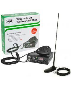 Statie radio auto HP8000 PNI + Antena, 40 canale, Squelch automat