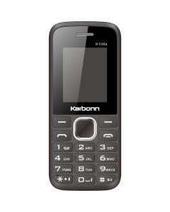 Telefon mobil K106 S Karbonn, Rosu/Negru, Dual Sim