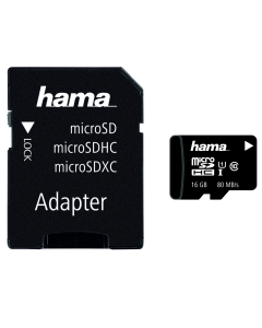 MICROSD 16GB UHS C10 HAMA