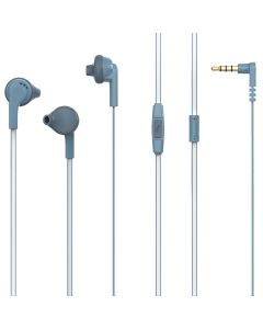 Casti In-ear PSINTM10BU Poss, 1.2m, microfon, jack 3.5mm, Blue