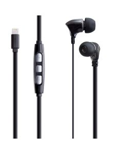 Casti In-Ear  PSINTL Poss, Lightning, 1.2m, Negru