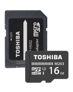 Card de memorie Toshiba microSDHC 16GB class 10 + adaptor