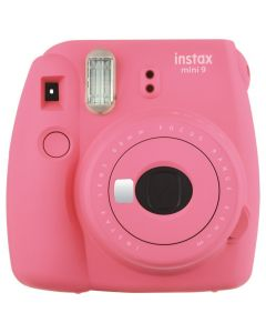 Camera foto instant Mini 9 Fujifilm, blitz integrat, 2 letile f:60, sistem manual, roz