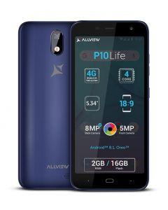 Telefon mobil Allview P10 Life, Dual SIM, 16GB, 2GB,  4G, Android 8.1 Oreo, Albastru