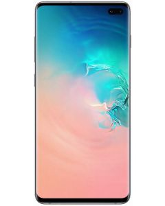 Telefon mobil S10+ Samsung, 128 GB, Dynamic AMOLED, Quad HD+ Curved, Camera tripla cu Dual OIS, Alb