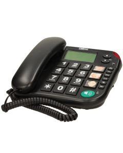 Telefon fix cu fir KXT480 MaxCom, LCD, Apelare rapida, Speaker, Tasta Mute/Pause, Negru