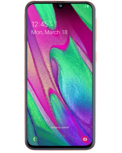 Telefon Samsung Galaxy A40, 64 GB, 4 GB RAM, 16+5 MP, Procesor Octa Core, Portocaliu
