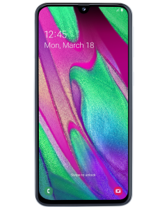 Telefon Samsung Galaxy A40, 64 GB, 4 GB RAM, 16+5 MP, Procesor Octa Core, Alb