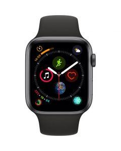 Apple Watch 4, GPS, 44mm, Sport, Bratara Silicon, OLED, Space Grey
