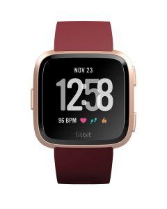 Ceas smartwatch Fitbit Versa, NFC, Notificari, Ritm cardiac, Merlot/Rose Gold