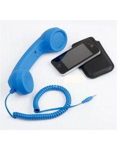 Receptor telefon mobil Logic, Mufa Jack 3.5mm, Lungime cablu 100cm, Buton reapelare/inchidere, Buton volum, Albastru