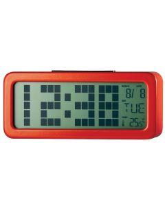 Ceas digital cu alarma PSDC006RD Poss, Ecran 1.25 inch, Senzor temperatura interioara
