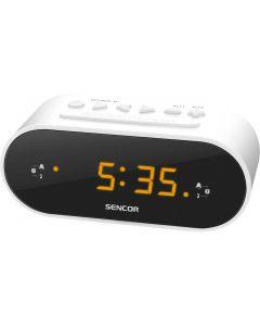 Radio cu ceas Sencor SRC 1100 W FM Alb