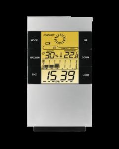 Statie Meteo TH-200 Hama, Functie Ceas, Display Digital, Data, Prognoza, Umiditate 30/85%, Temperatura 0C/+50C, Negru