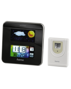 Statie Meteo Color EWS-1200, Functie Ceas, Display Digital, Data, Prognoza, Wireless, Interior/Exterior Umiditate 20/99%, Temperatura 0C/50C, Negru