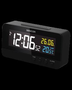 Ceas digital cu alarma SDC 4800B Sencor, Ecran color 8.6 cm, Afisarea temperaturii interioare, Calendar