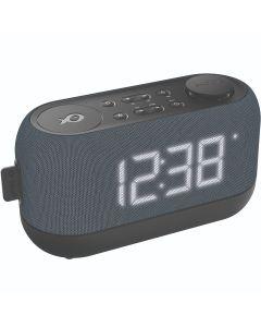Radio ceas PSCR12 Poss, Baterii AA, Functie Snooze, Negru