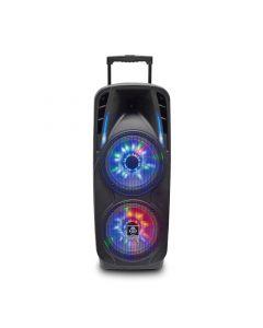 Boxa portabila iDance Groove 870, karaoke, Bluetooth, 800W, troler, 2 microfoane wireless incluse cu fect echo, mixer incorporat, USB, AUX