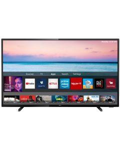 Televizor LED Smart 43PUS6504 Philips, 108 cm, 4K Ultra HD, Negru