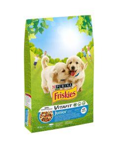 Friskies JUNIOR cu pui si legume, hrana uscata pentru caini, 8kg