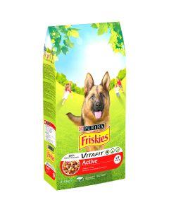 Friskies ACTIVE cu vita, hrana uscata pentru caini, 2,4kg