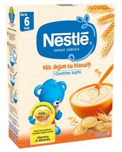 Cereale Nestle Mic dejun cu biscuiti, 250g, de la 6 luni