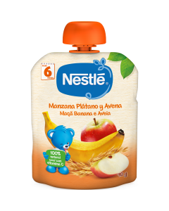 Piure Nestle Mere, Banane si Ovaz, 90g, de la 6 luni