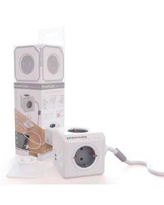 Priza Allocacoc, 2 USB, lungime cablu 1.5 m, gri