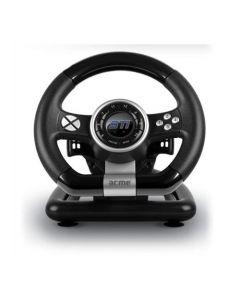 Volan Gaming Racing - STI Acme, PC, Cu pedale, USB, 12 butoane programabile Negru