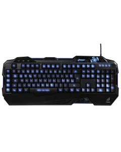 Tastatura gaming Urage Exod Hama, Iluminare albastru, rosu sau violet, 113 taste
