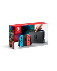 Nintendo Switch Console (With Neon Red & Neon Blue Joy-Cons) - Gdg